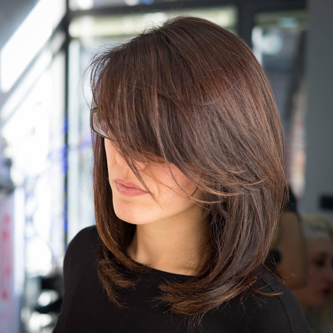 Convenient Side Bangs For Medium Hair